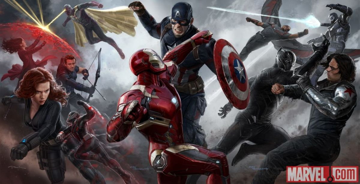 Captain America and Iron Man duke it out in the midst of chaos