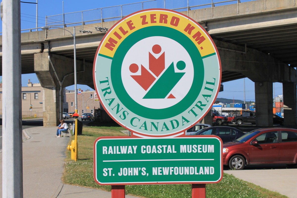 Mile Zero marker, Trans Canada Trail, St. John's, NL