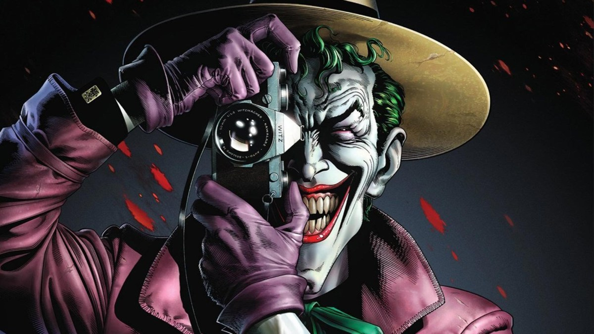 The iconic cover of the comic The Killing Joke.
