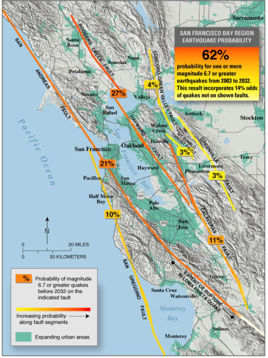 San Andreas Fault The End Is Nigh Owlcation - Map of san andreas fault line