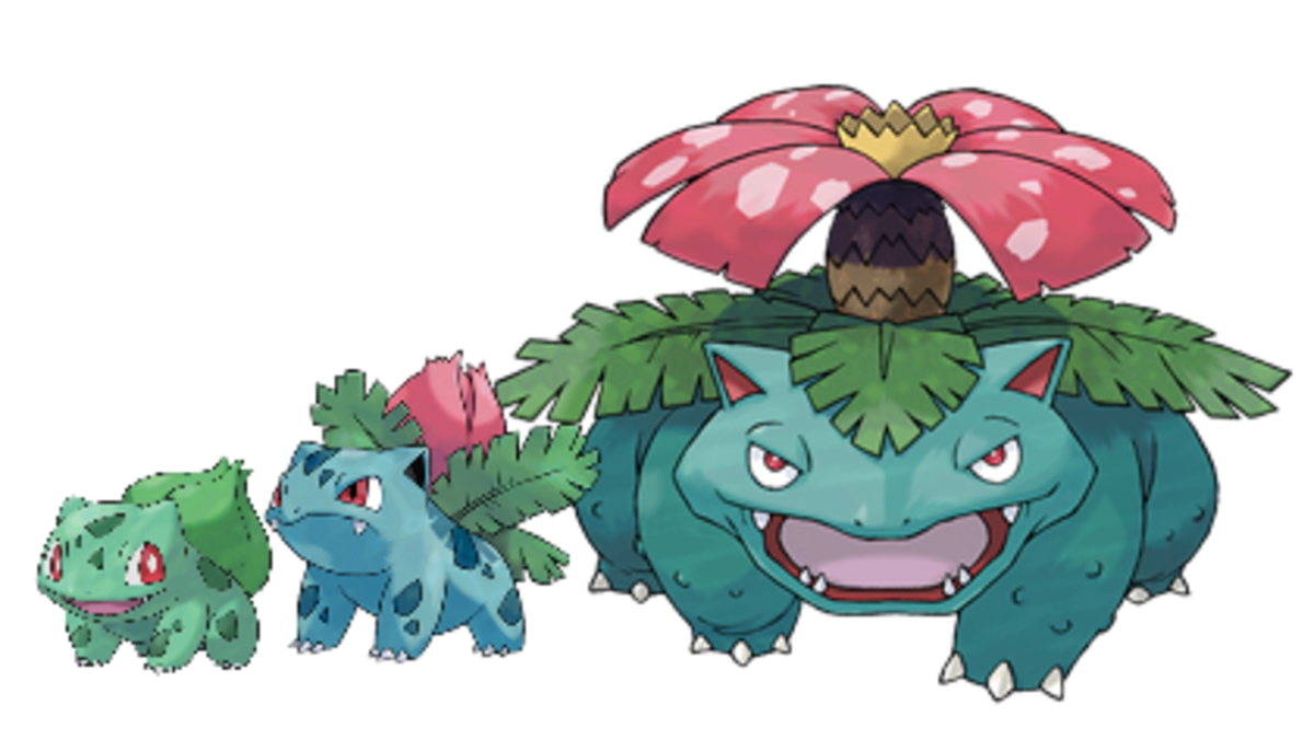 Bulbasaur, Ivysaur, Venasaur