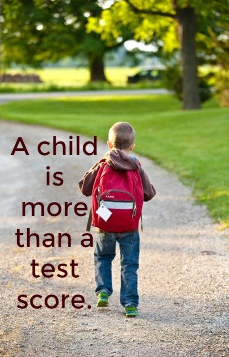 No Child Left Behind and Common Core have reduced children to test scores.