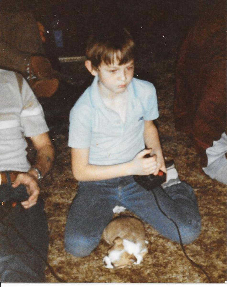 Me playing my Atari back in the day