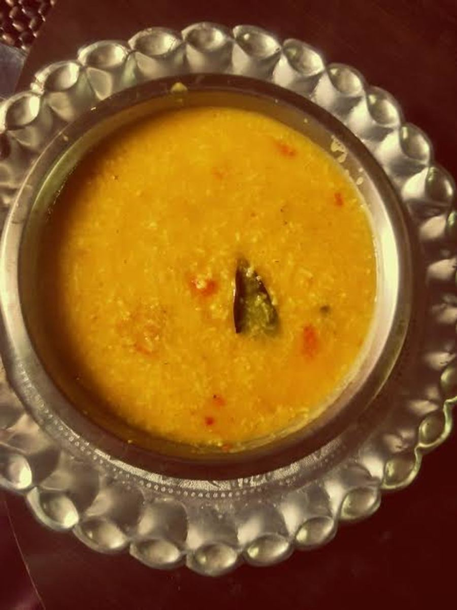A bowl of Punjabi khichdi.