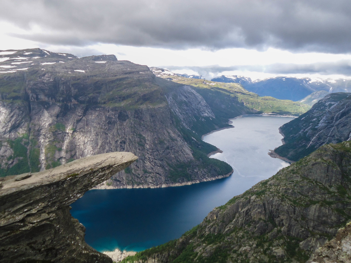 Photo of Trolltunga in late August