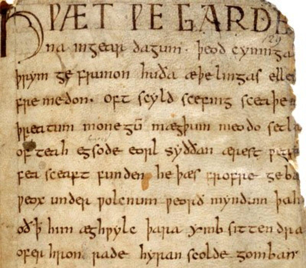 Beowulf manuscript.