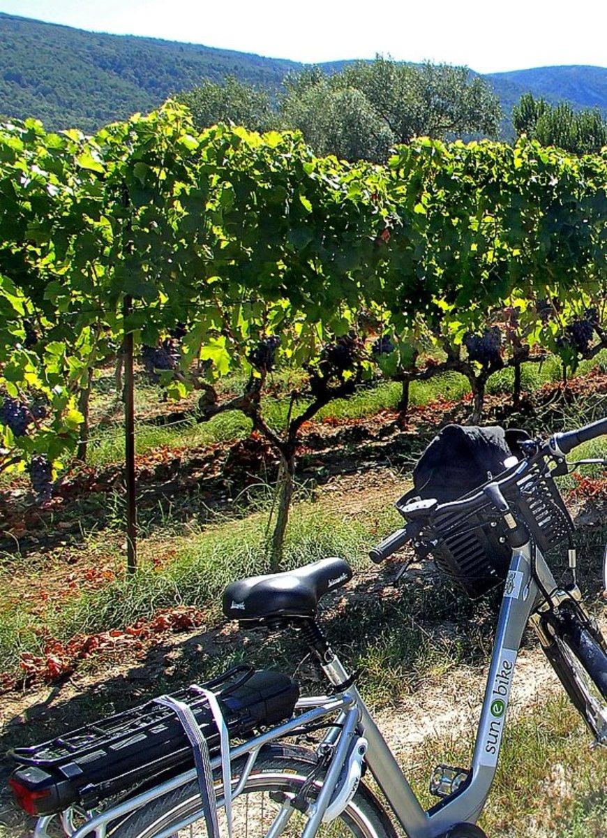 Sun-e-bike in Provence.