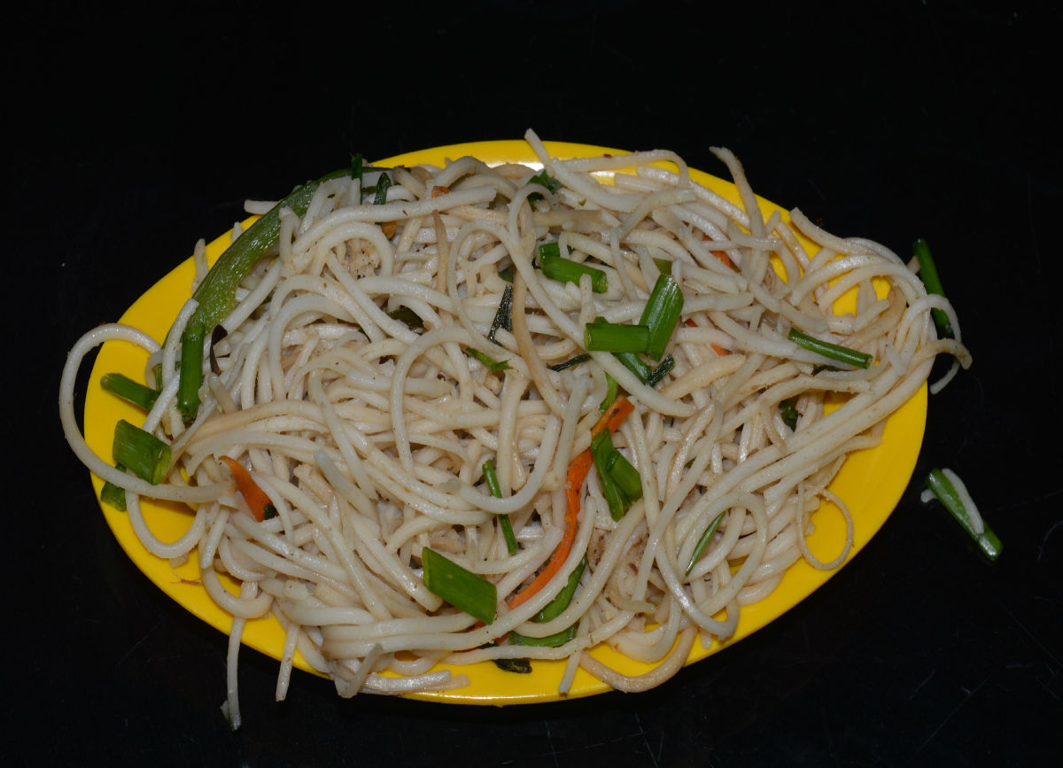 Chinese vegetable noodles.
