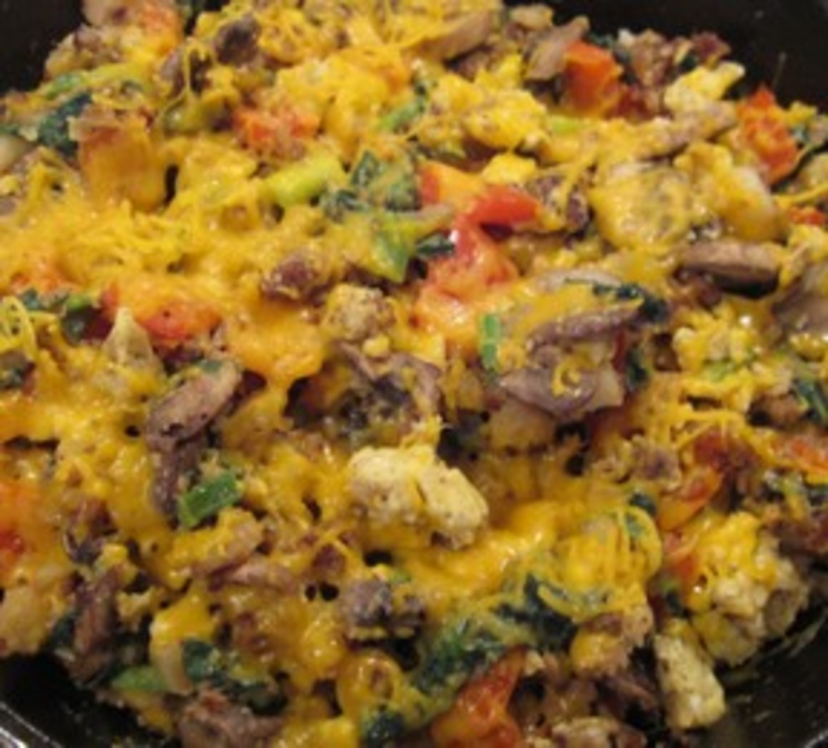 Make a Vegetarian Brunch Skillet-Meal in Four Steps