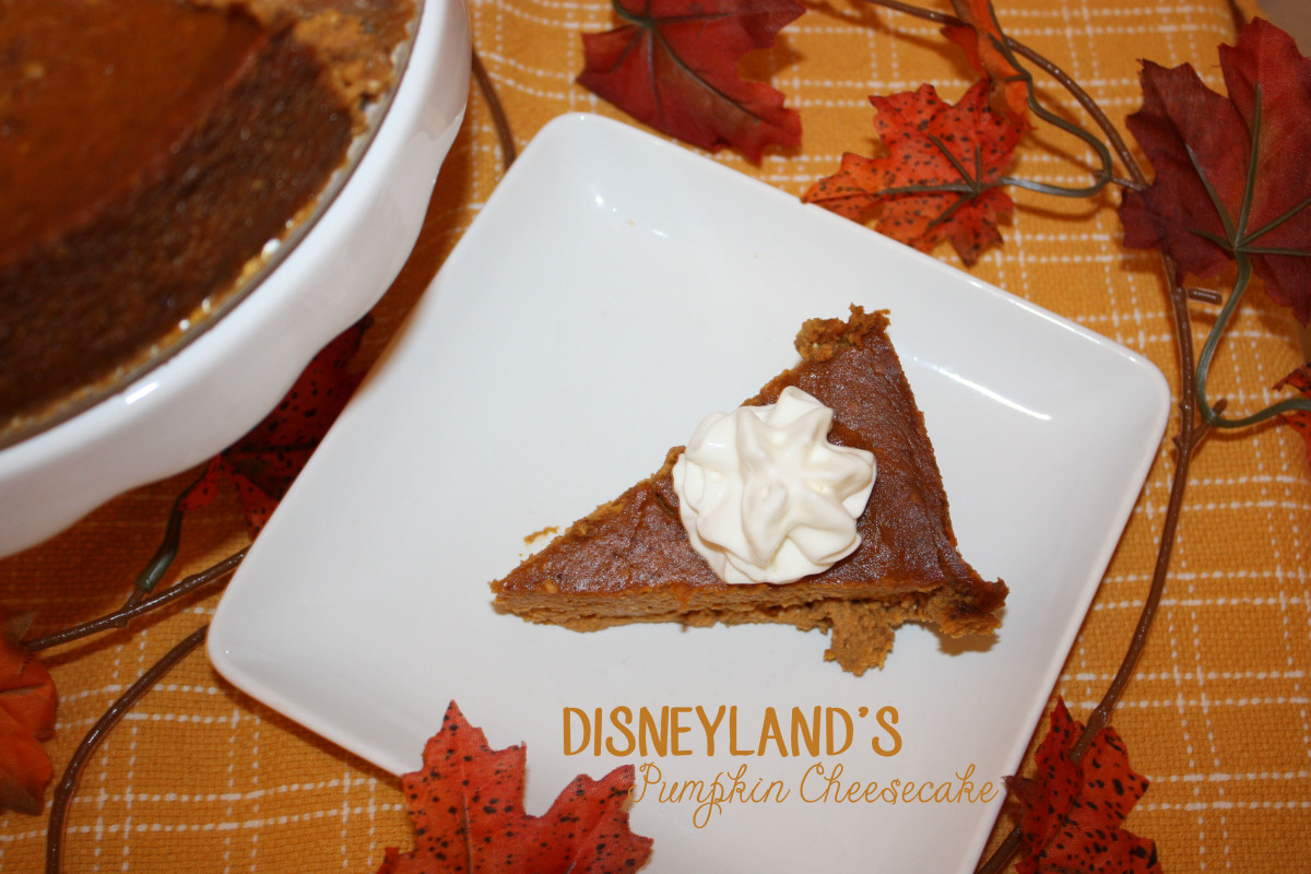 Learn to make Disneyland's pumpkin cheesecake!