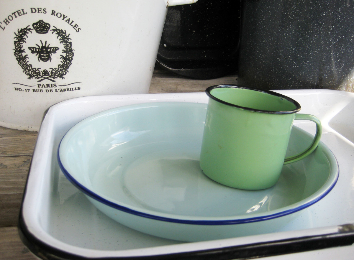Enamelware Vintage Collectible and Popular Modern Retro