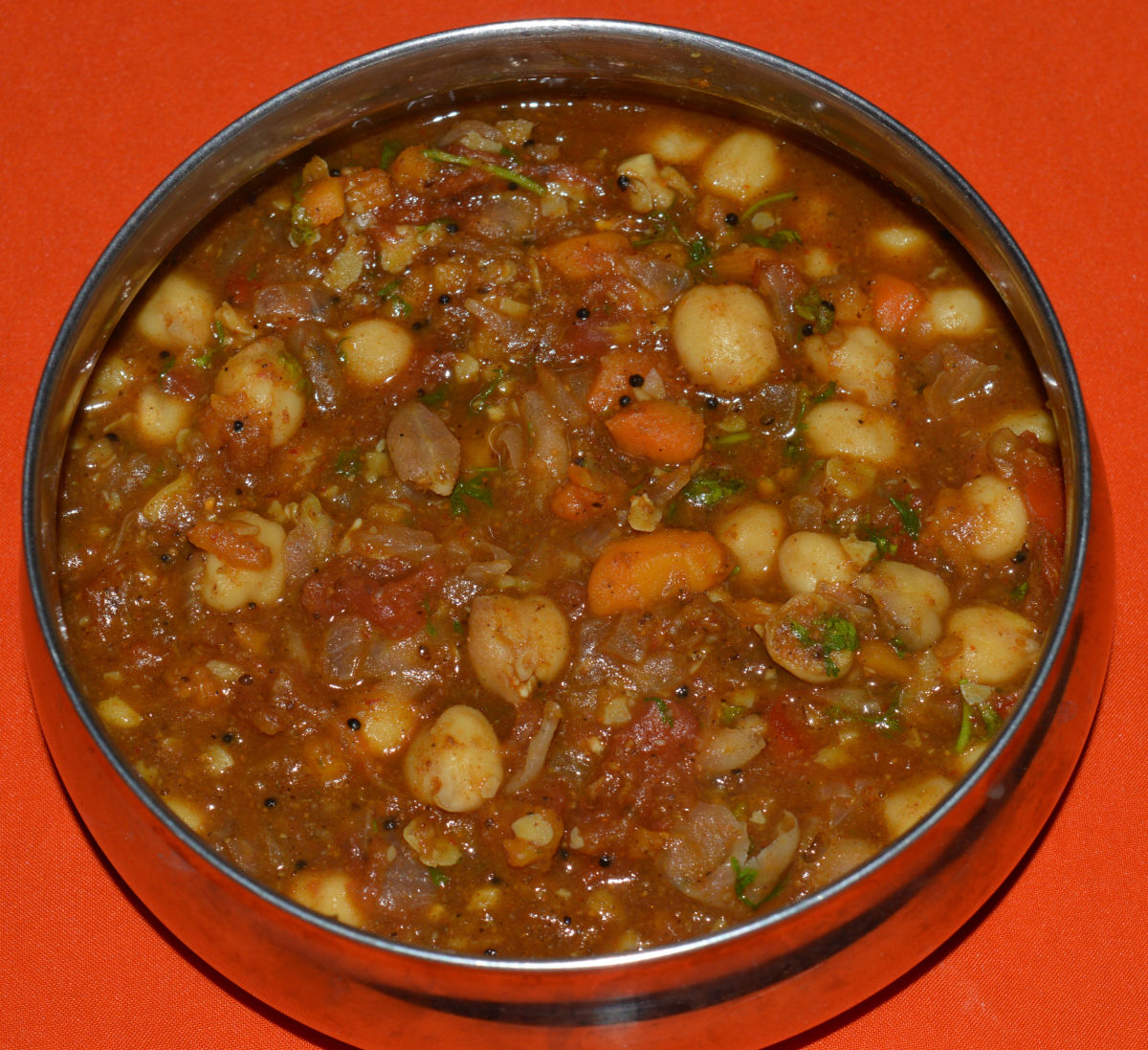 Vegan Side Dish: Chickpea  Curry or Garbanzo Beans Curry Recipe