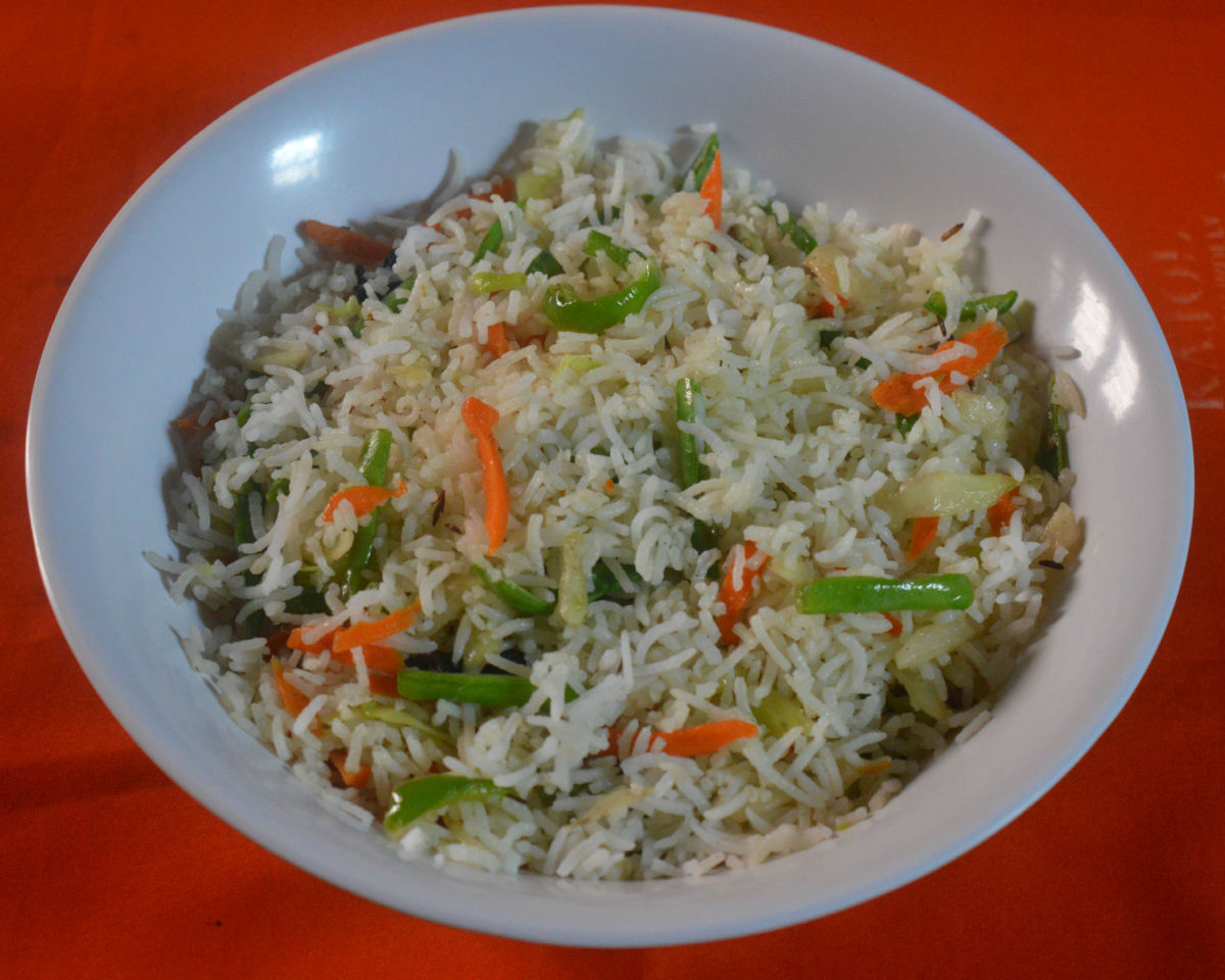 Healthy Recipes: Chinese Style Veg Fried Rice