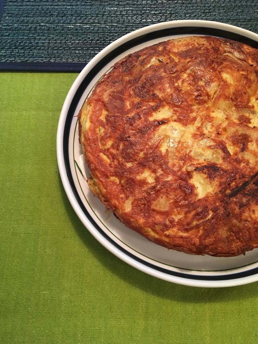 A tortilla de patata I made at home.