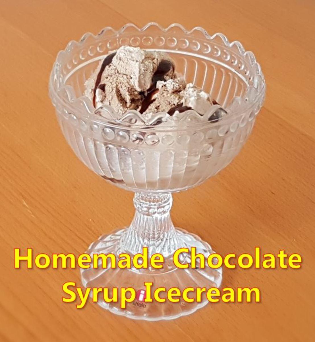 Homemade Ice Cream Using Hershey's Chocolate Syrup
