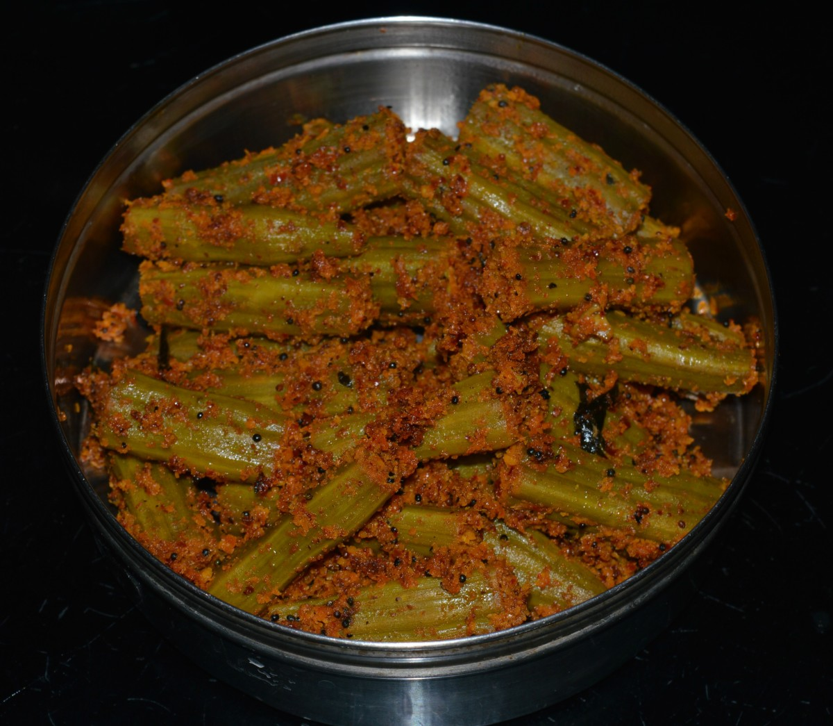 Making Moringa Curry or Drumstick Side Dish