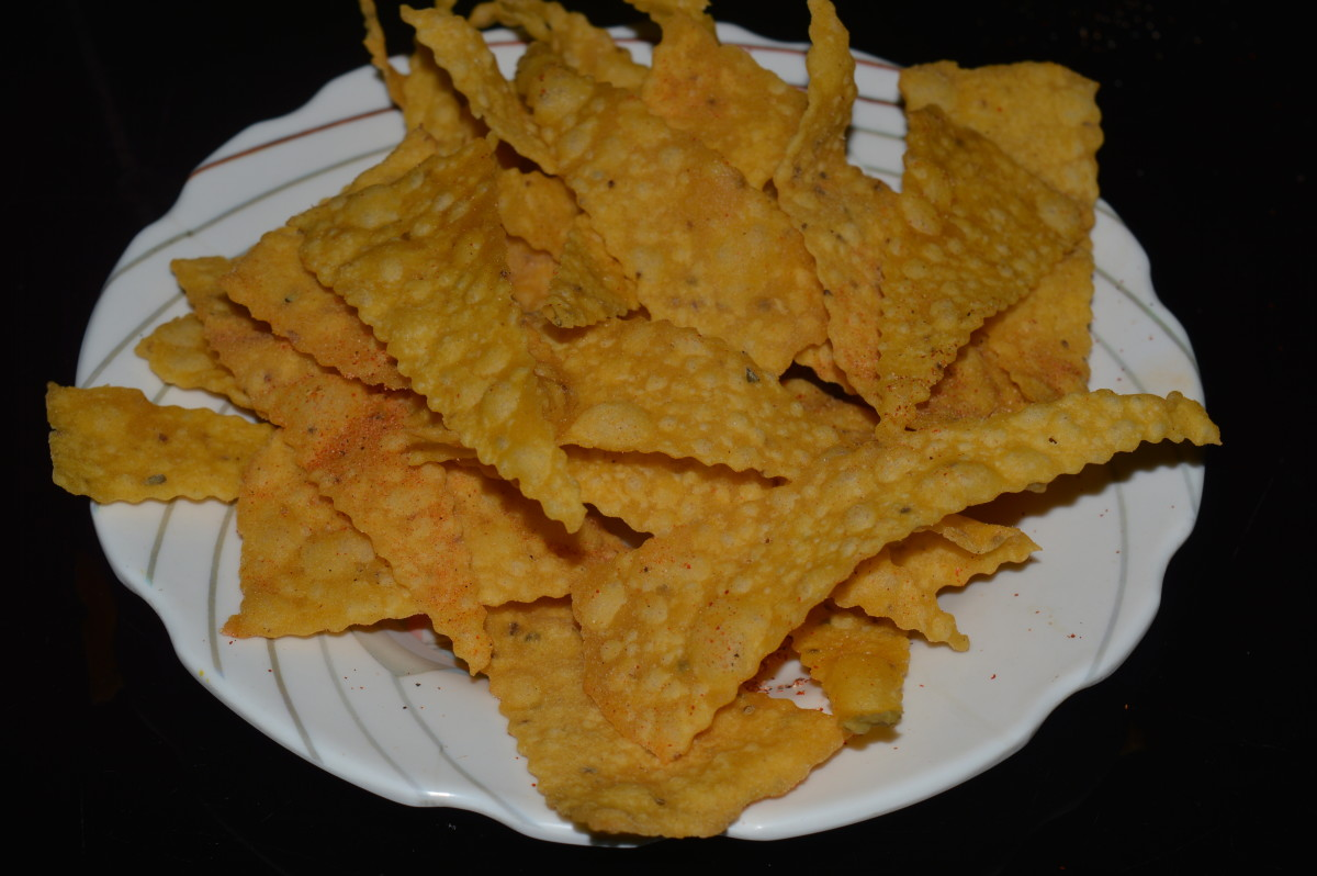 Home made nacho chips
