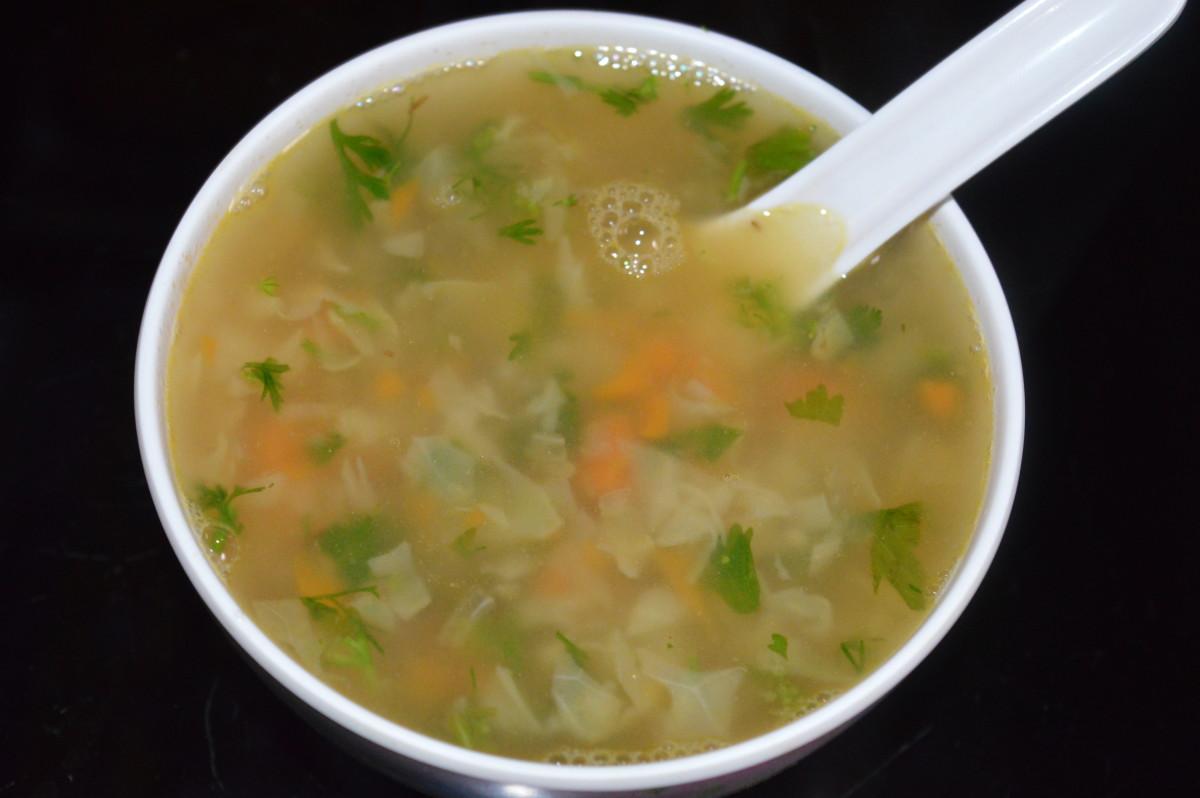 Vitamin-C-Rich Lemon and Coriander Soup Recipe