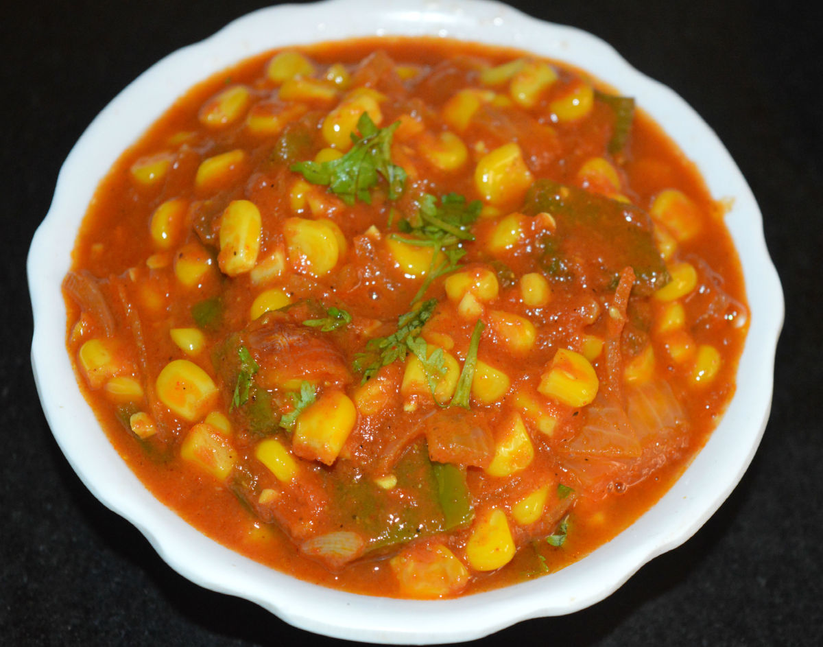 How to Make Sweet Corn Capsicum Masala Curry