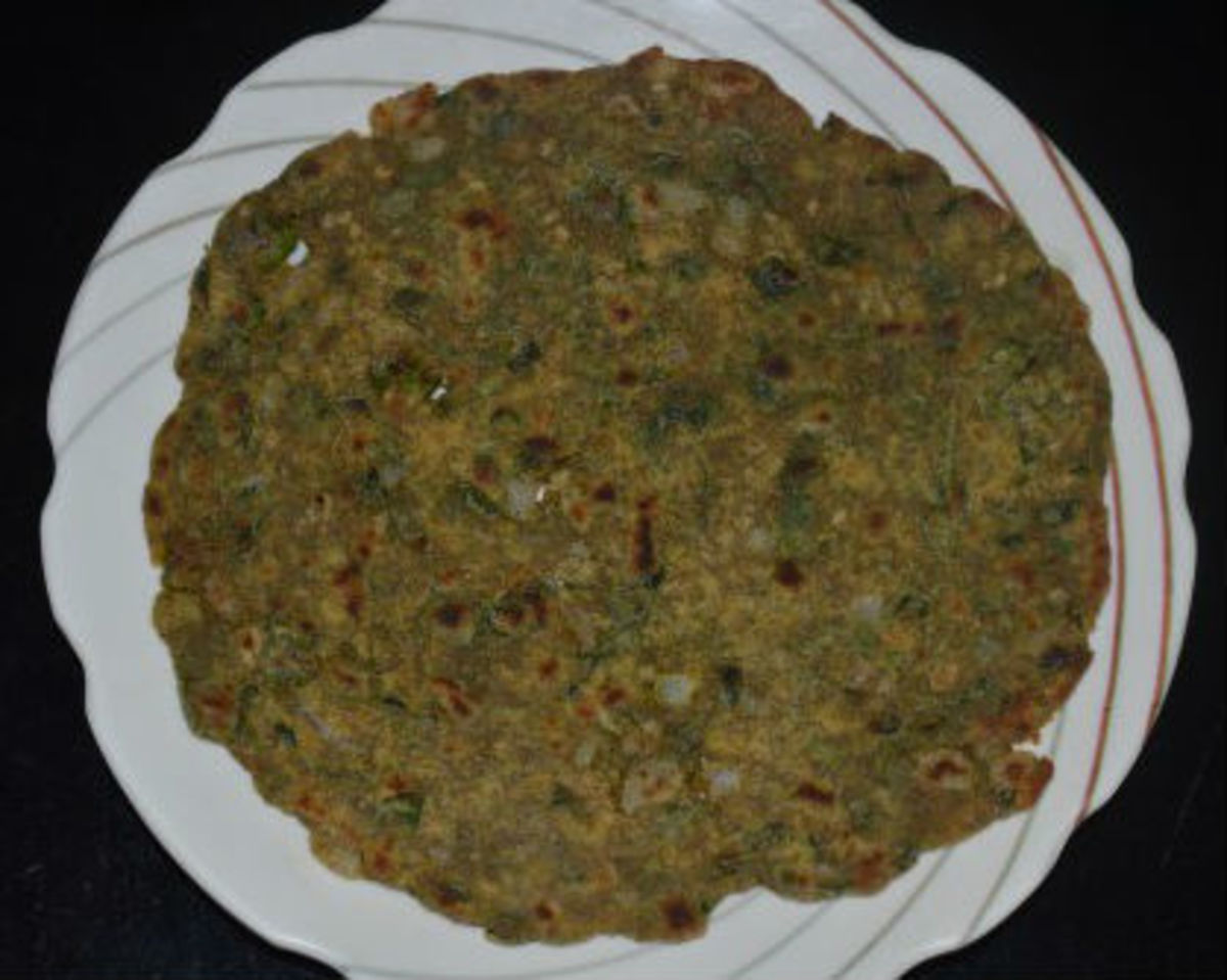 Spicy Multi Grain Pancake or Thalipeeth