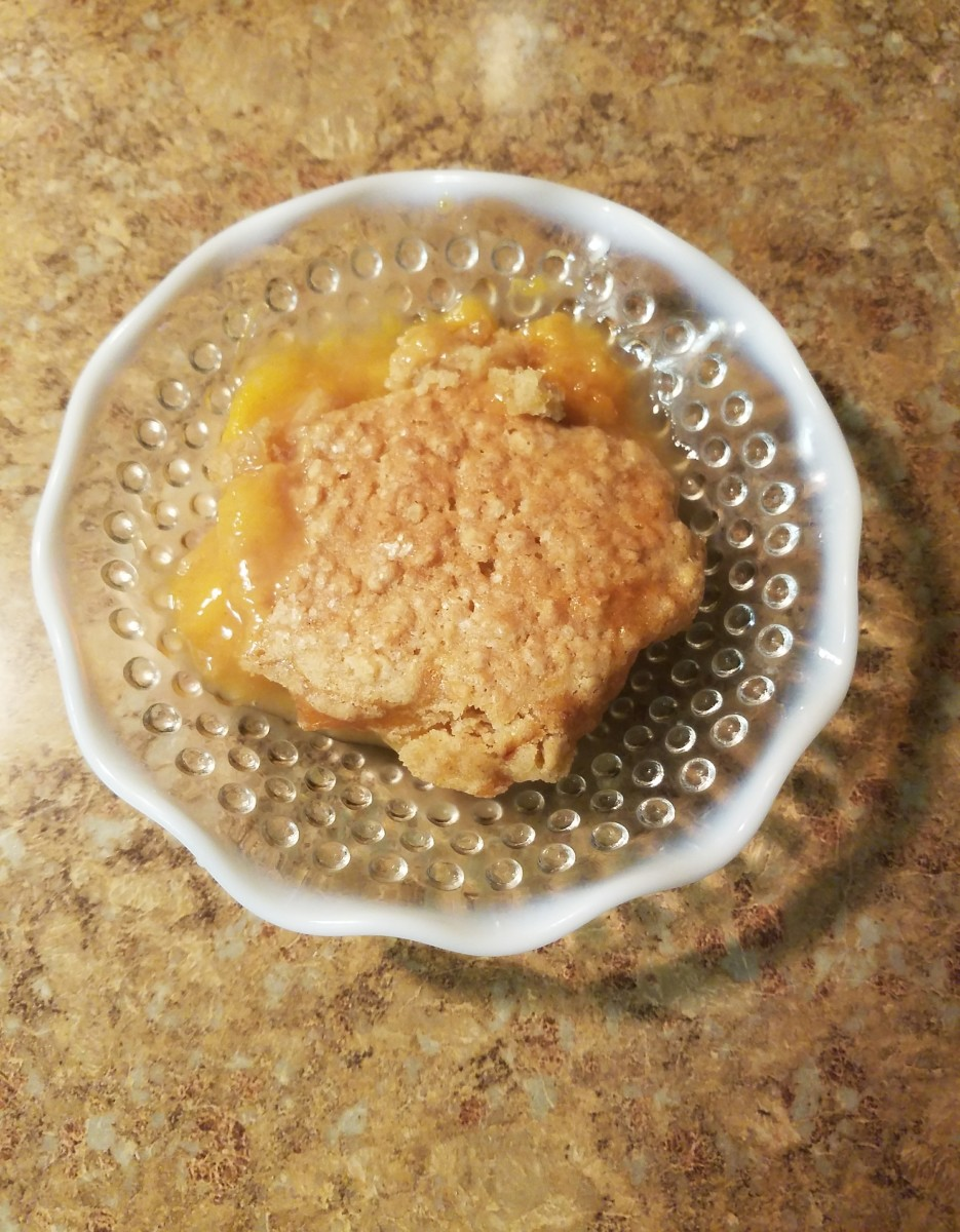 Grandma's Peach Cobbler Crisp Recipe