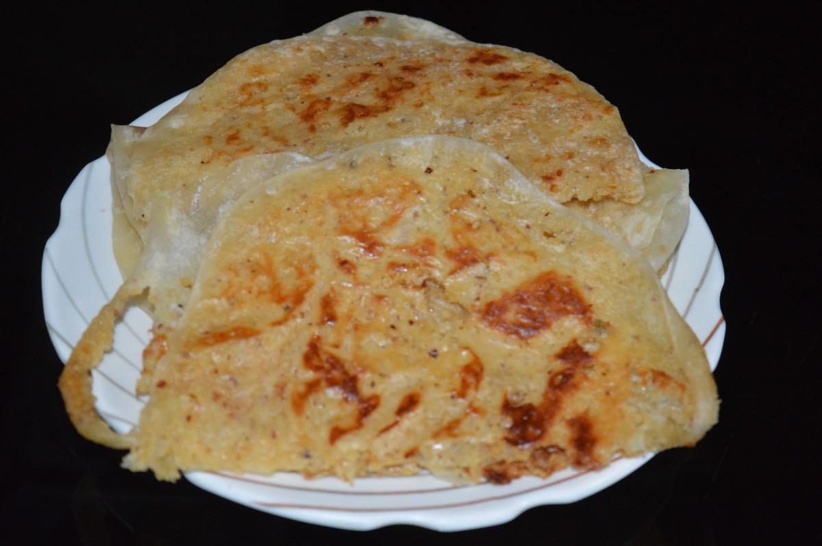Sweet coconut flatbread or Kayi holige