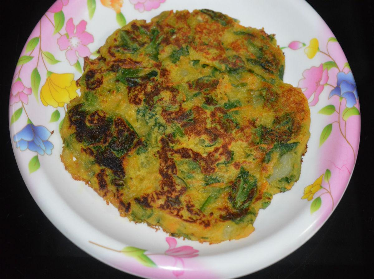 Savory Vegetable Pancakes (Besan Cheela)