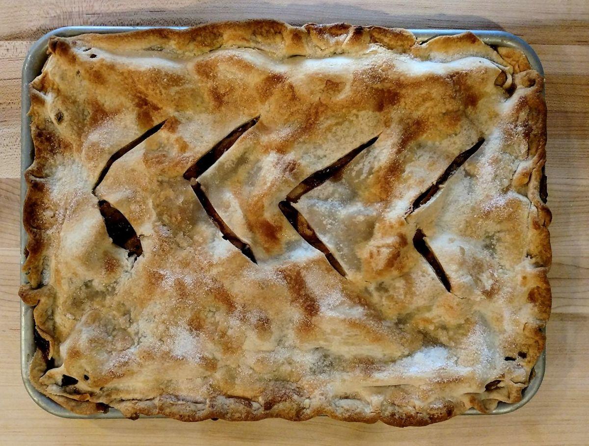 My Farmhouse Apple Slab Pie With Chinese Black Sugar