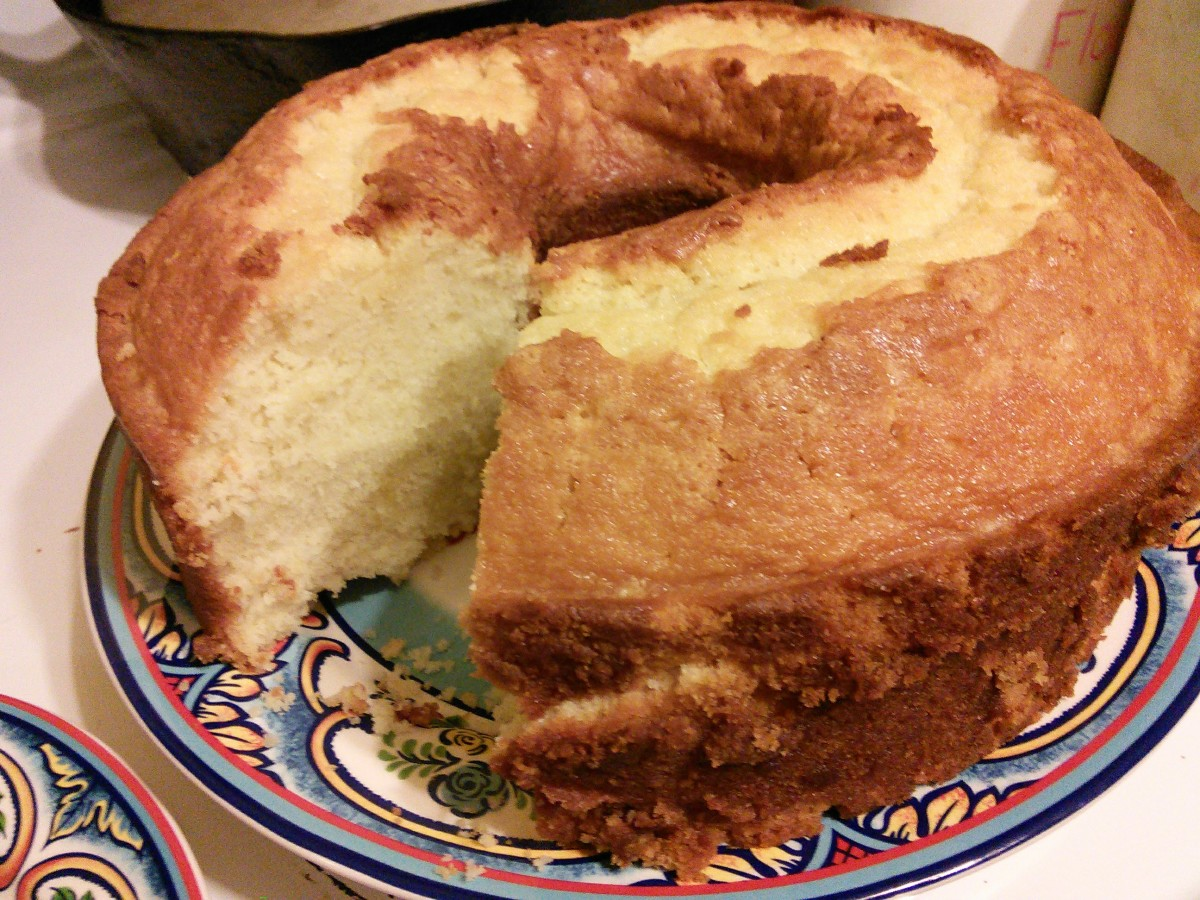 Look at this amazing pound cake! My husband is from North Carolina. He was raised by many talented female role models growing up. This recipe is from one of his southern mamas, Miss Donna, a woman with a heart full of love.