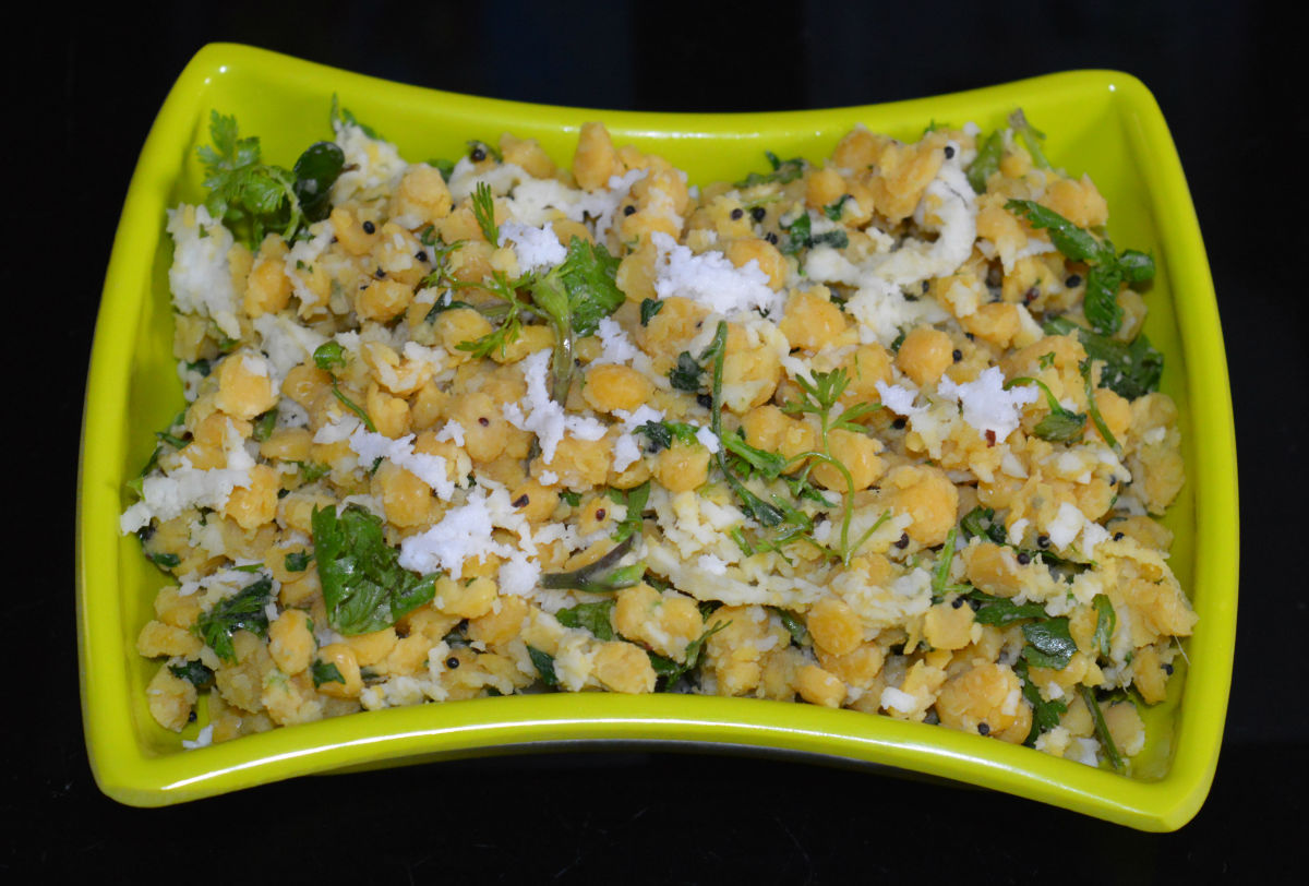 Snack Recipes: Split Chickpea Usli (Chana Dal Sundal)