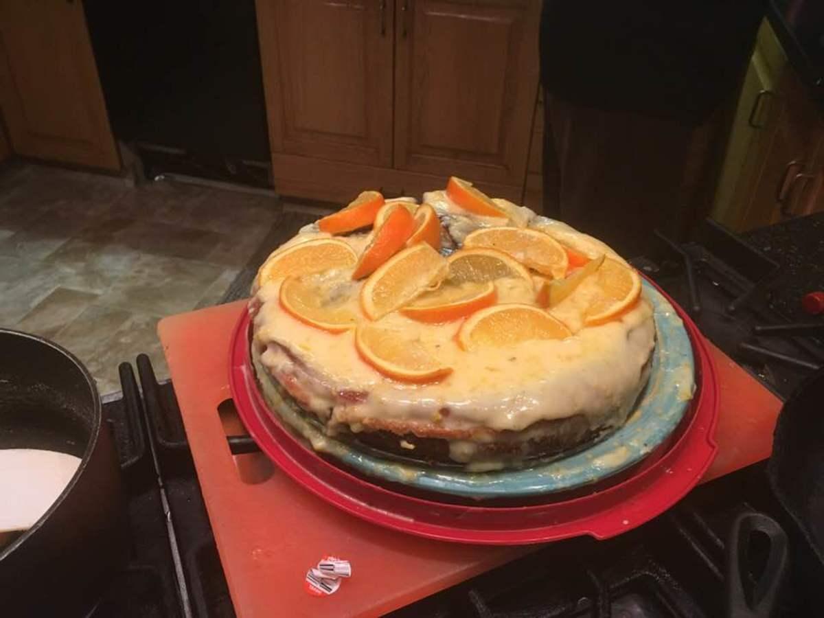 Austrian Orange Cream Torte Recipe