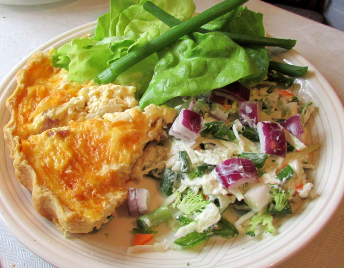 Recipes for Quiche Lorraine and Shortcrust Pastry