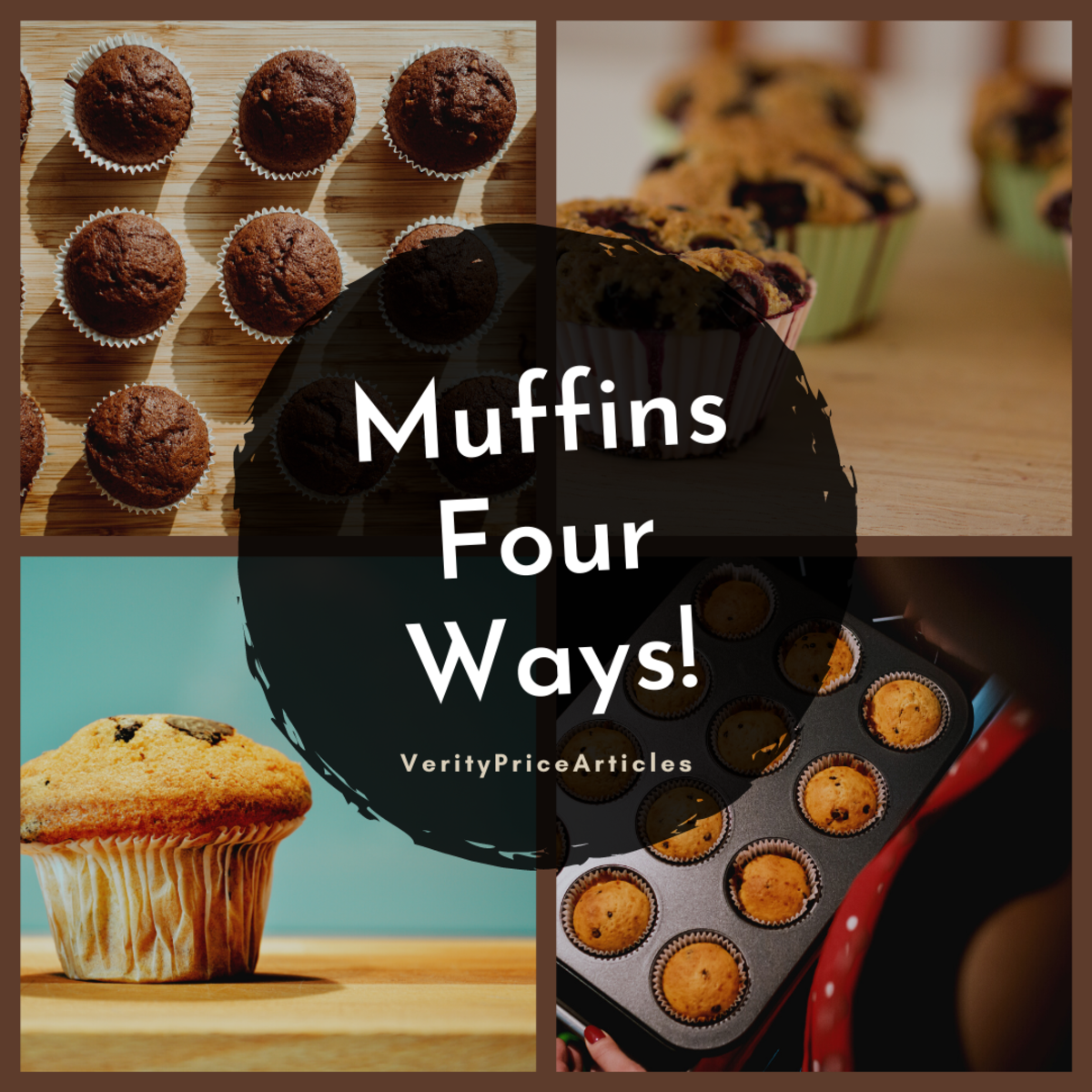Learn how to make four different delicious muffins!