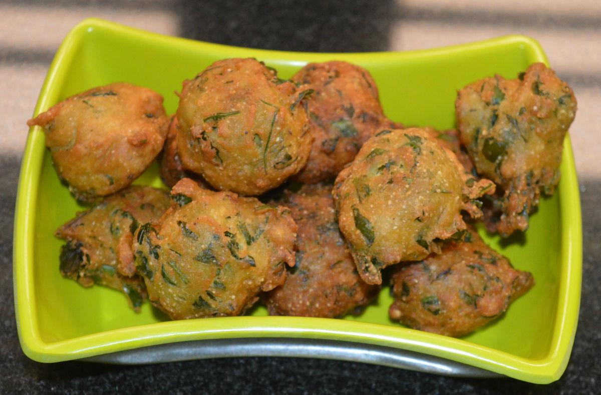 Gujarati Snacks: Fenugreek Leaf Gota (A.K.A. Methi Fritters or Pakoras)