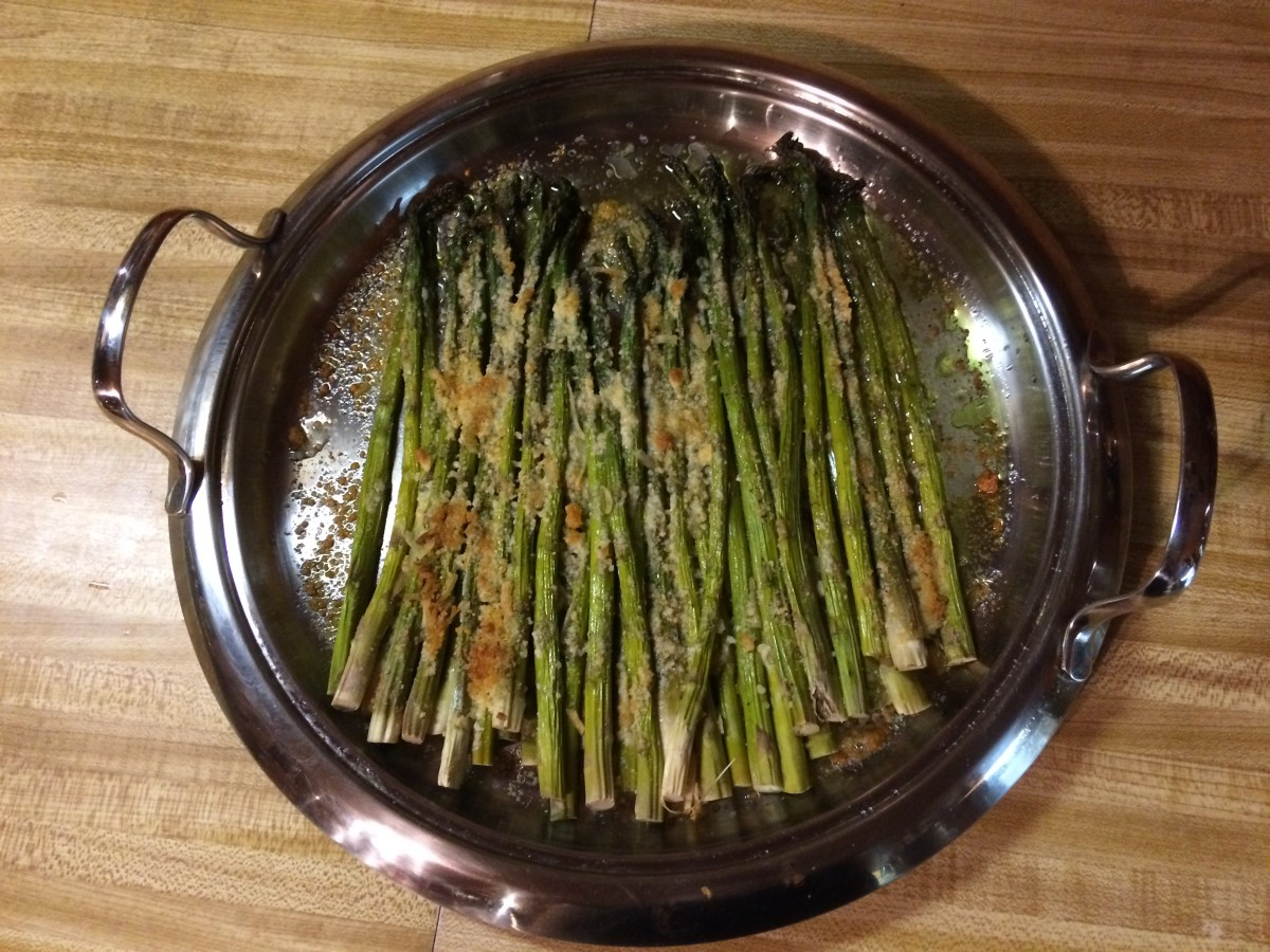 The finished asparagus.
