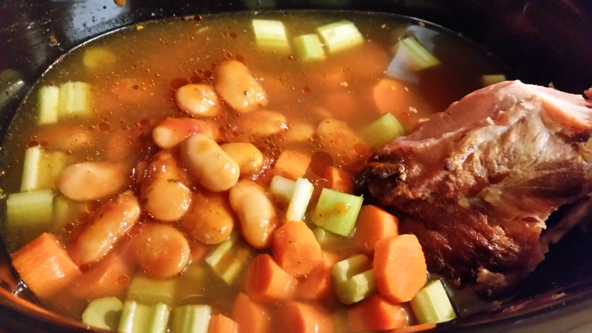 Ham bone soup is easy to make and delish!