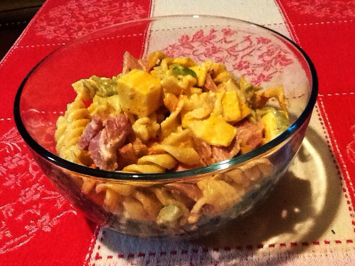 Creamy Cheesy Rotini Pasta Salad Recipe