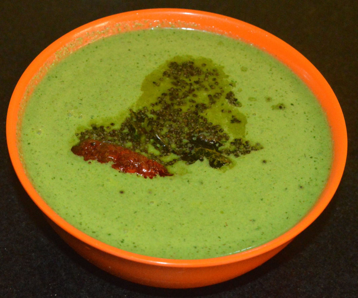 Fenugreek leaf tambuli (cold soup).