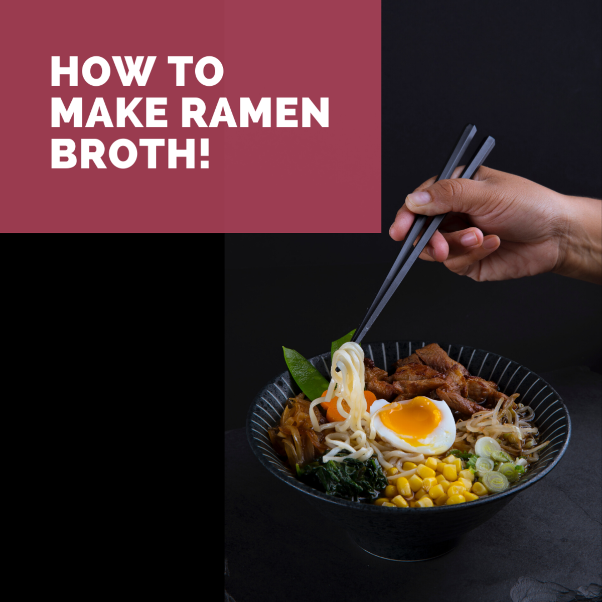 Make your own ramen broth and save money!