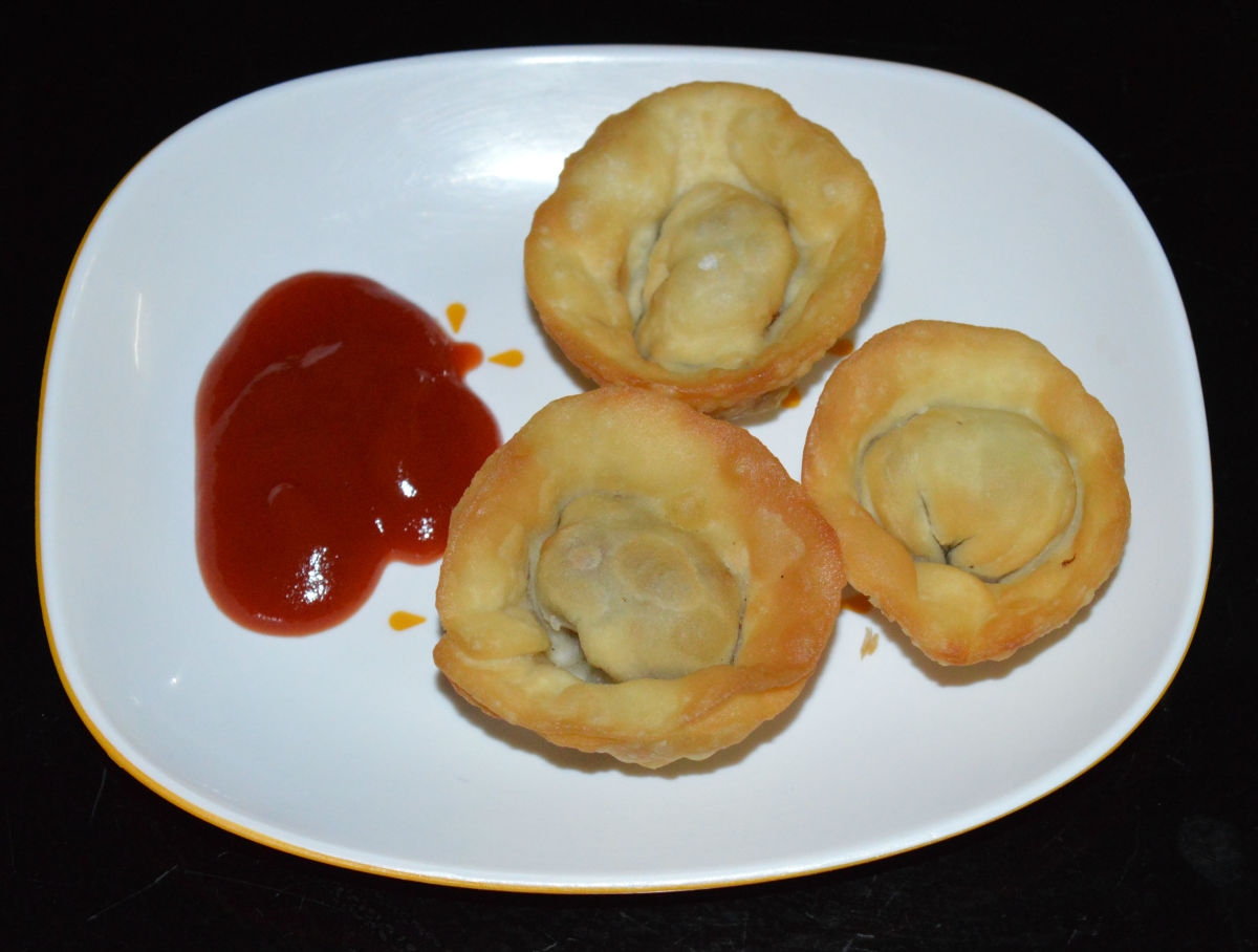 How to Make Vegetarian Fried Wontons