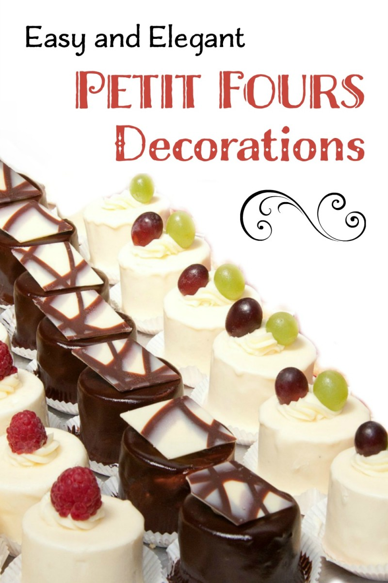 Get petit fours decorating ideas from simple to professional