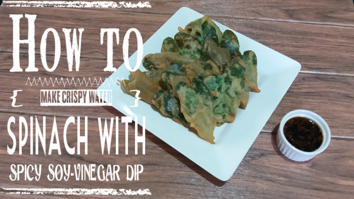 How to Make Crispy Water Spinach With Spicy Soy-Vinegar Dip