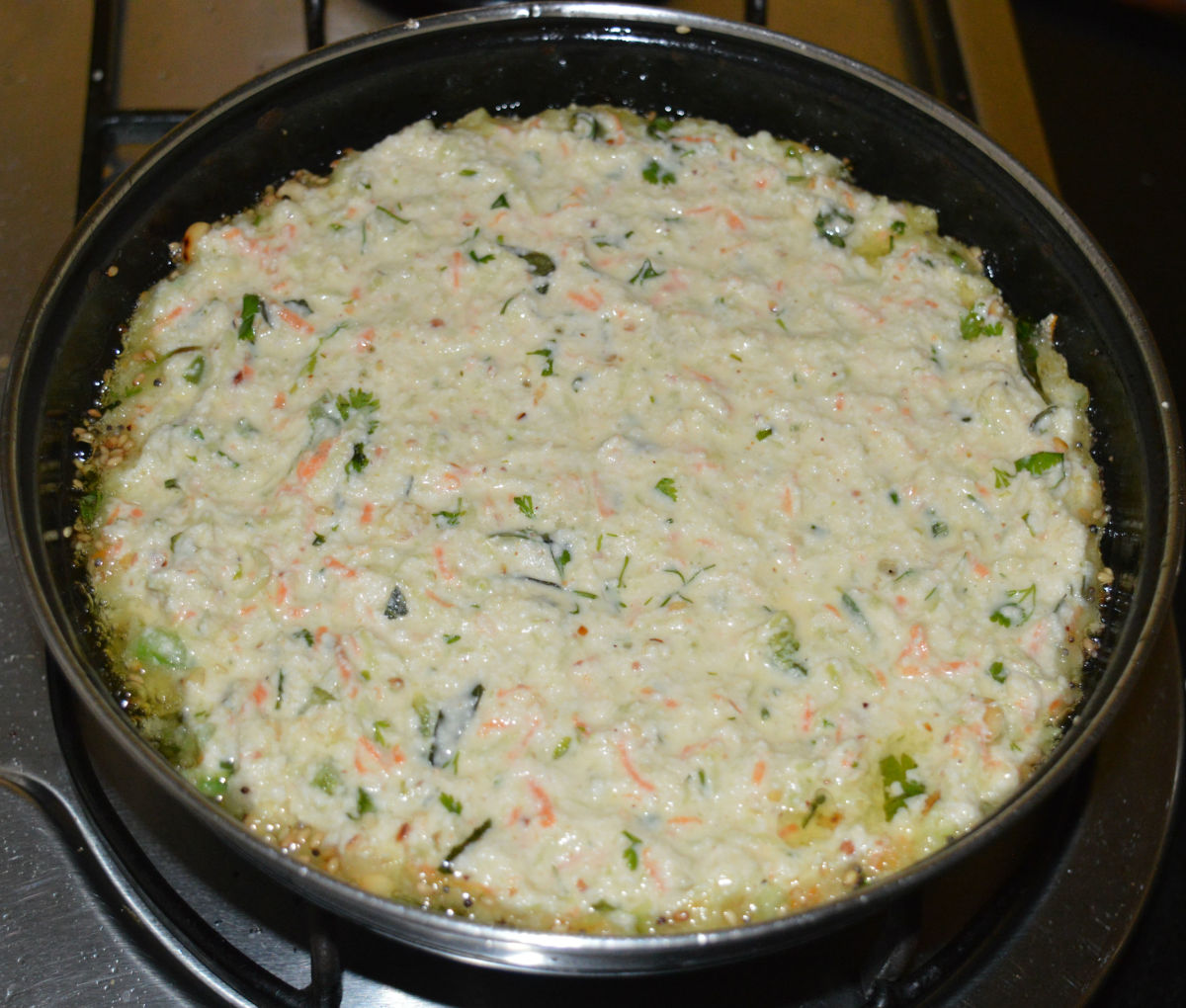 How to Make Instant Pan Handvo (Vegetable Semolina Pancake)