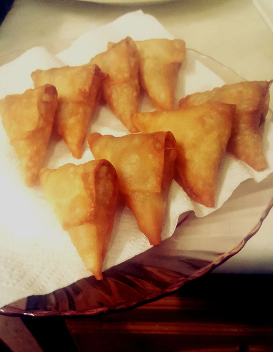 The Final look of Asian Samosas