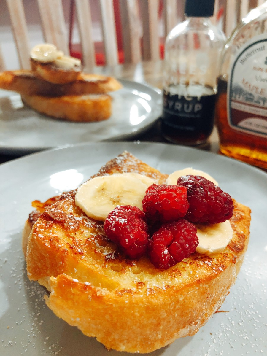 How to Make Perfect French Toast Using Italian White Bread.