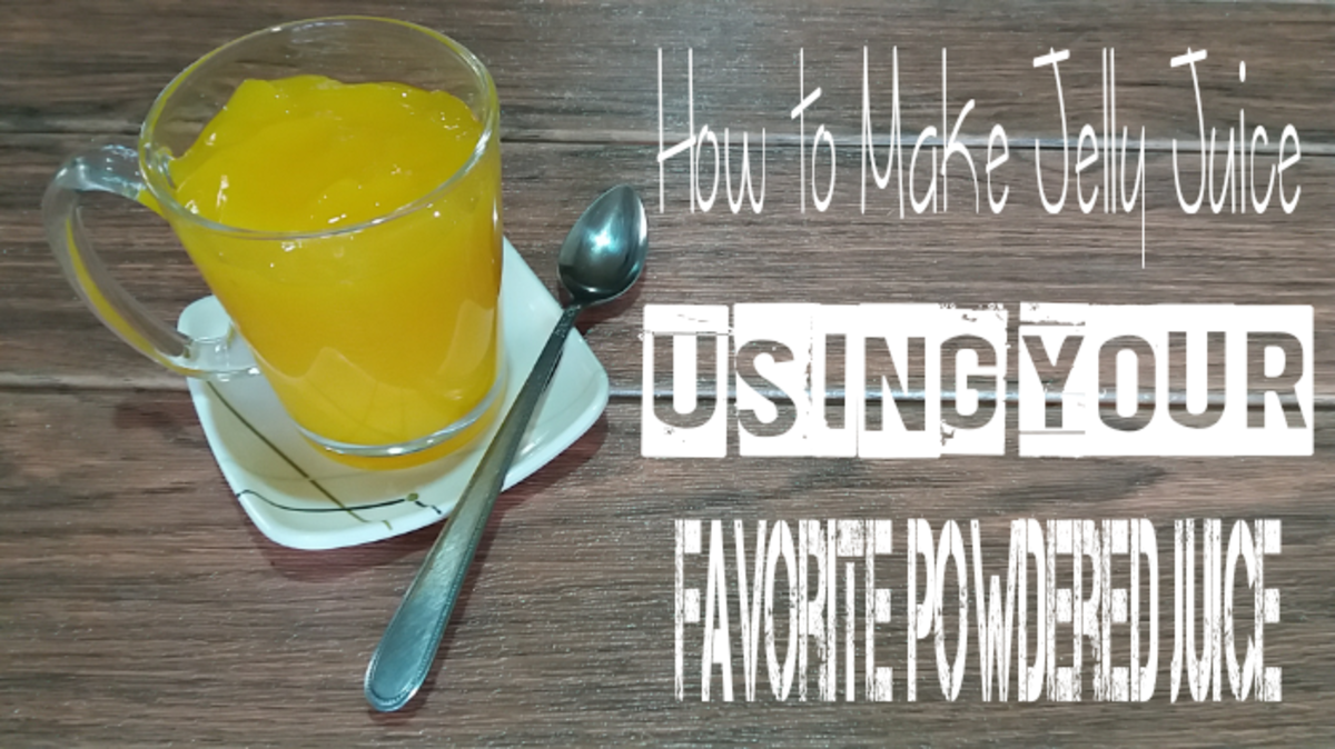 How to make jelly juice using your favorite powdered juice