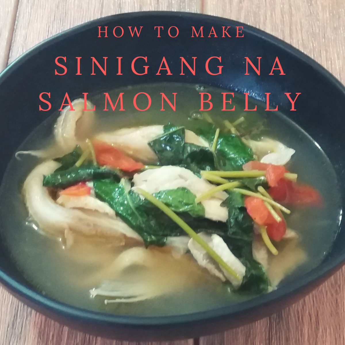 Learn how to make sinigang na salmon belly, a Filipino-inspired dish.