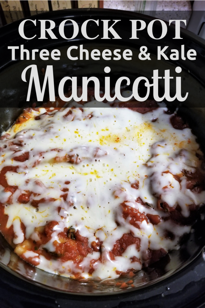 Crock-Pot Three Cheese and Kale Manicotti