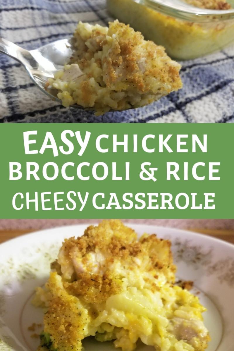 Easy Chicken, Broccoli, and Rice Cheesy Casserole