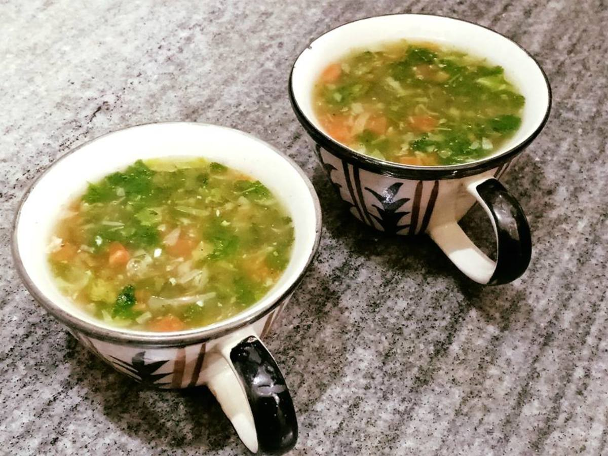Indian-Style Lemon Coriander Soup Recipe